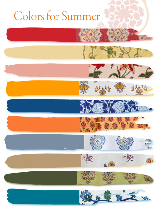 colors for summer decor