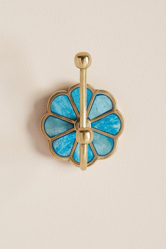 blue botanist floral hook to hang as Moroccan home decor