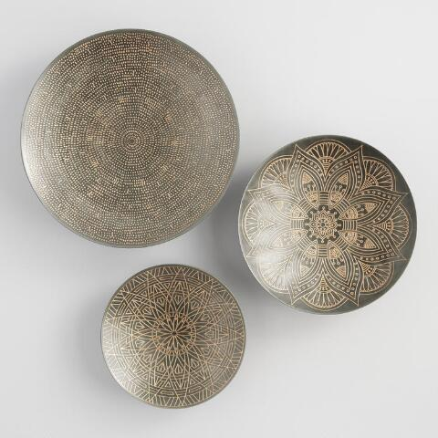 Etched disc wall art as Moroccan home decor