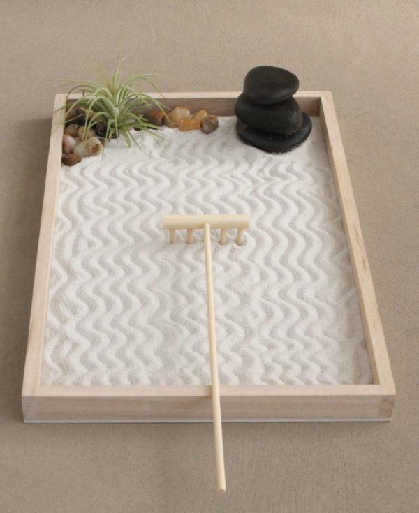 zen garden as mindfulness practice or zen decor