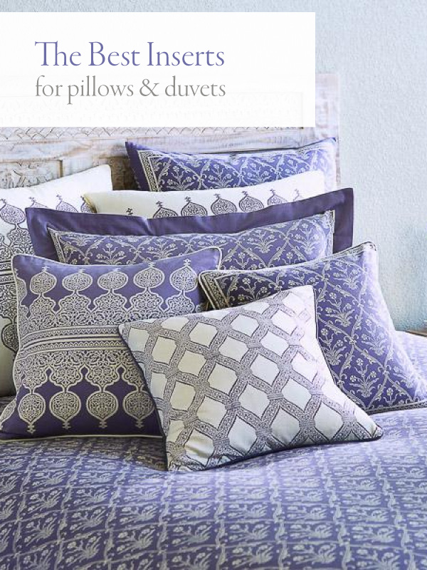the best pillow inserts and duvet inserts