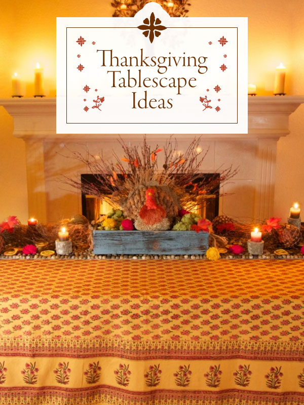 Thanksgiving tablecoth and Thanksgiving table ideas
