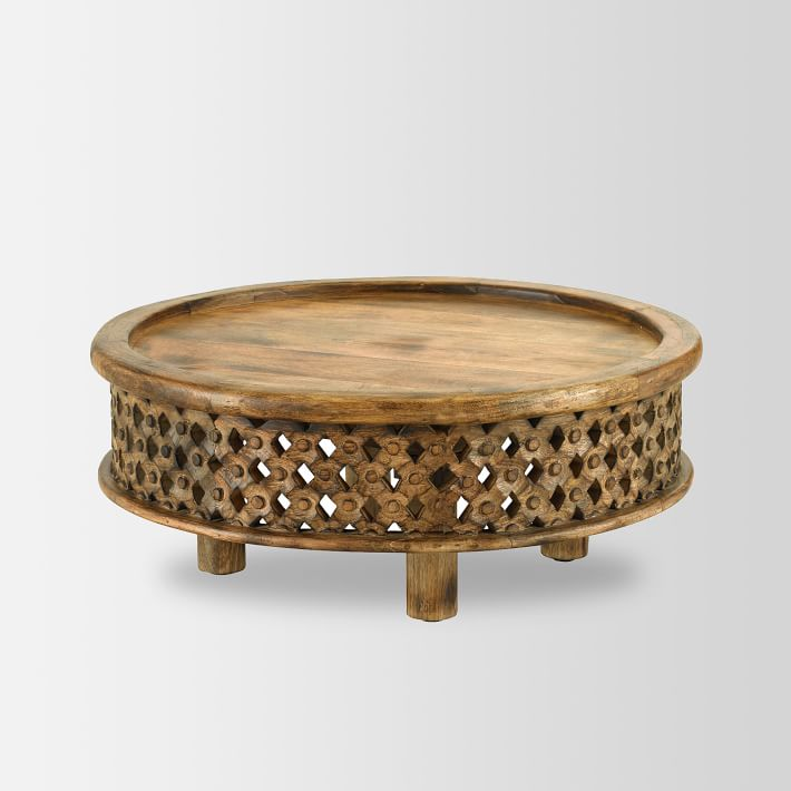 carved Moroccan style coffee table