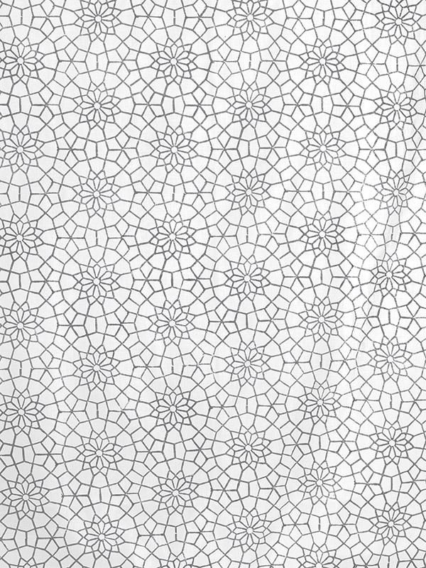 grey and white Moroccan pattern