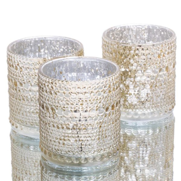 mercury glass tealight holders for valentine's day table decor