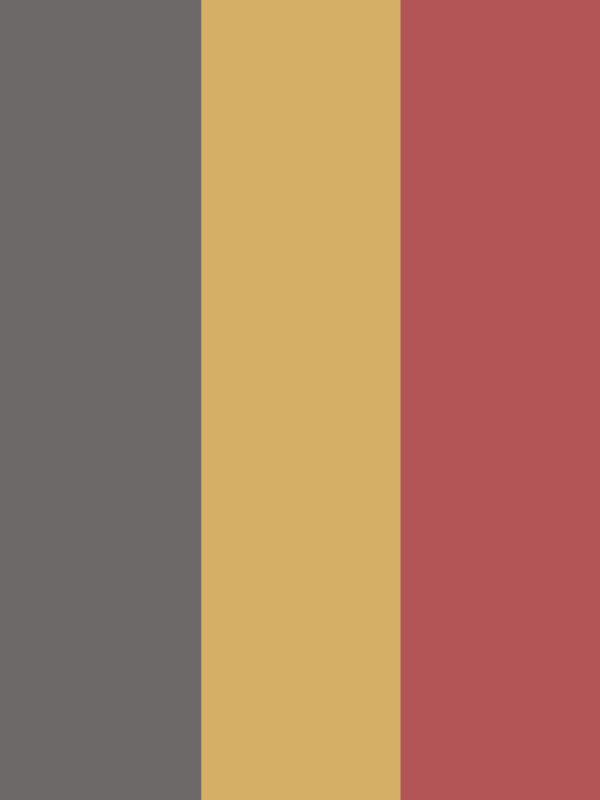 colors that go with yellow and grey: brick red