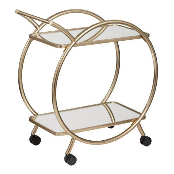 gold art deco bar cart