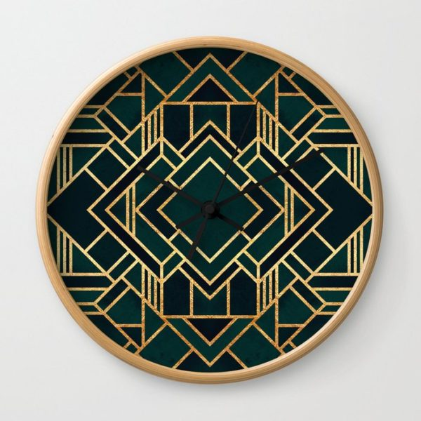 clock with an Art Deco pattern