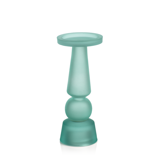 sea glass candle holder as tropical decor