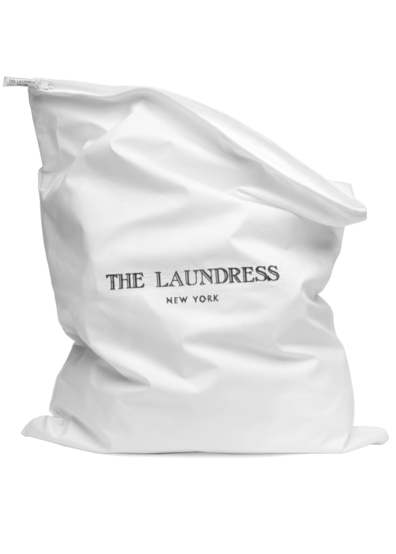 fabric linen storage bag from the laundress