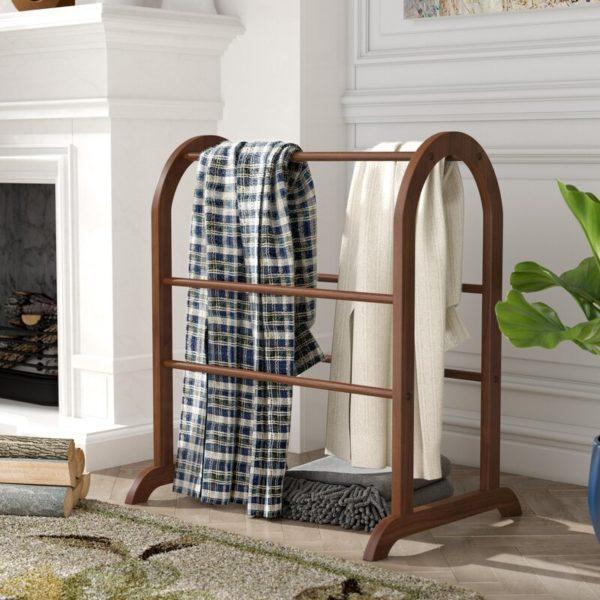 six barrel quilt rack