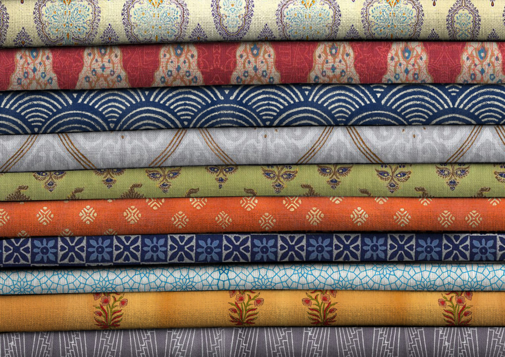 stack of fabrics folded neatly in linen storage