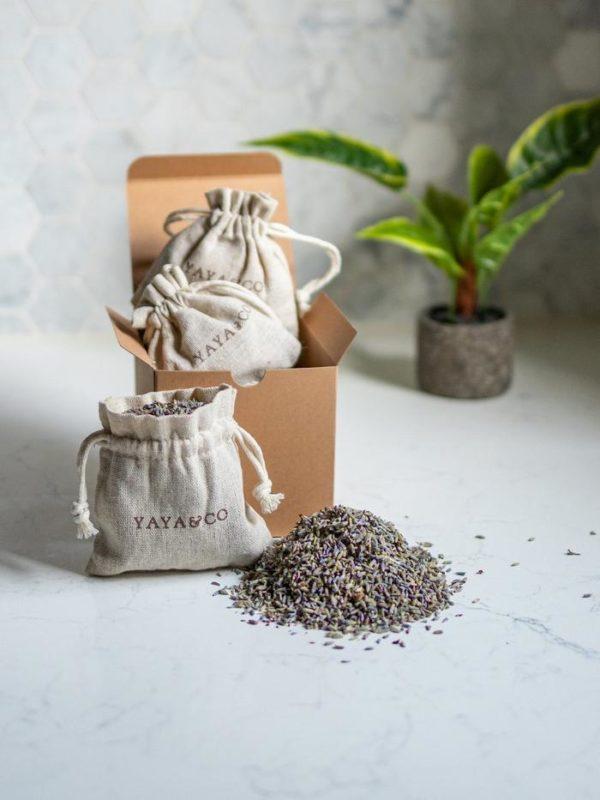 organic lavender sachets for linen storage