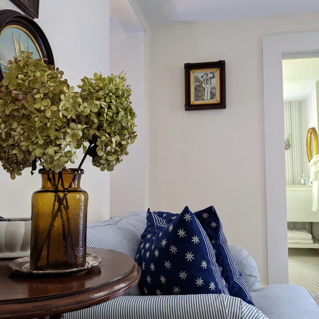 coastal cottage style living room from Little Eastham Cottage