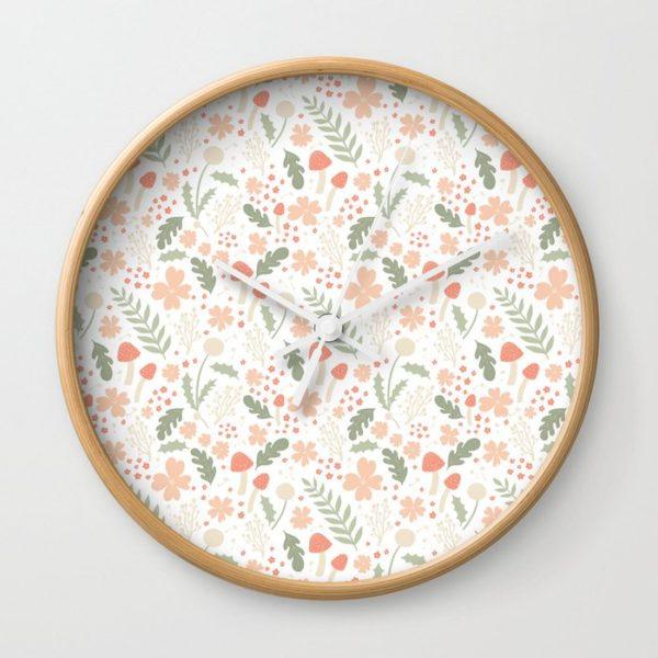 flower pattern clock by firefly lights design