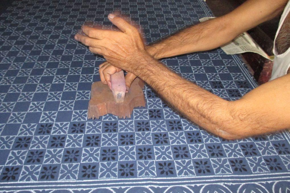 block printing with the dabu process