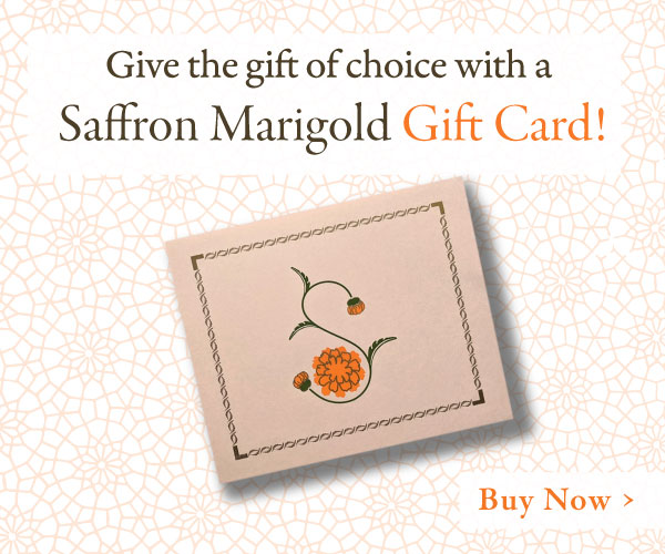 Give the Gift that Everyone will Love! Saffron Marigold Gift Cards