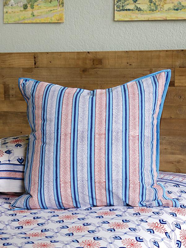 Le Chateau Stripes French Country Rustic Ticking Euro
