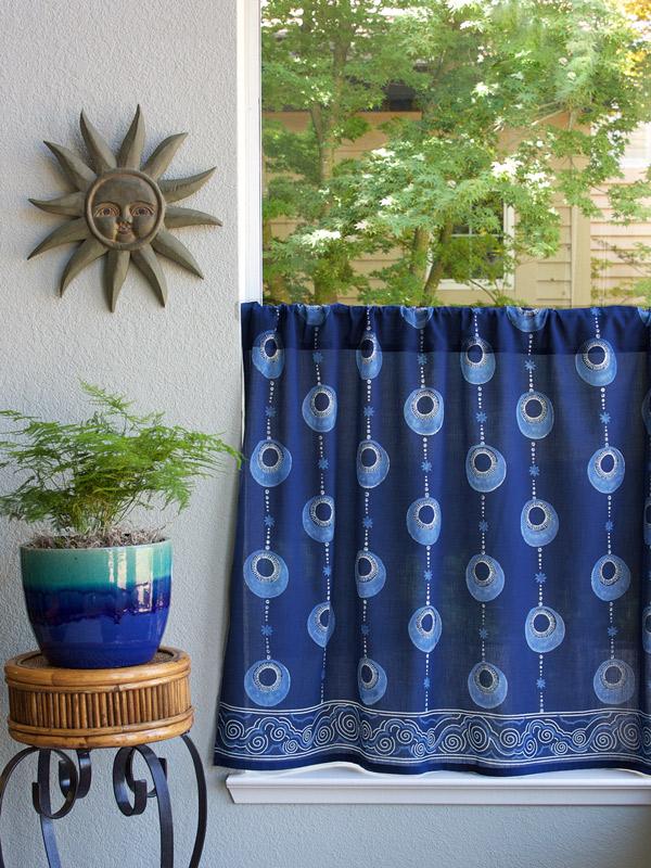 Blue Kitchen Curtains Island Vintage Saffron Marigold