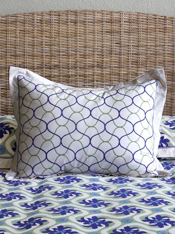 fishermans net ocean beach themed modern coastal pillow sham