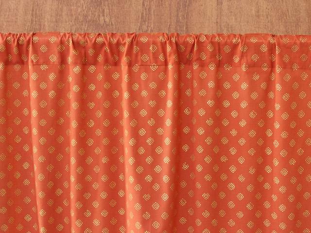 Burnt Orange Sheer Curtains
