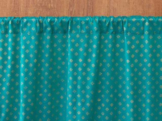 Curtains Ideas blue and gold curtains : Turquoise Blue Curtains, Blue and Gold Curtain Panels, India Sari ...