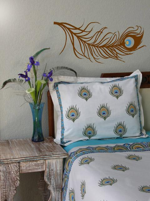 just the pillow peacock bedding i need this