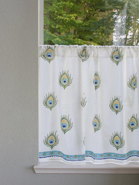 Ivory Kitchen Tier Curtains Peacock Kitchen Cafe Curtains
