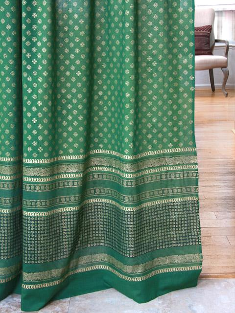 Green Curtain Panels Green And Gold Curtains Indian
