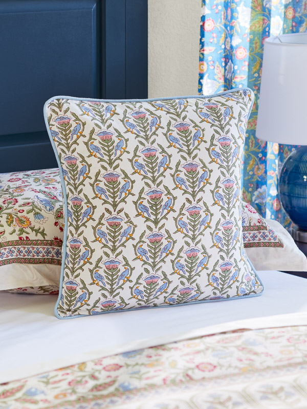 colorful flower pattern throw pillow cover