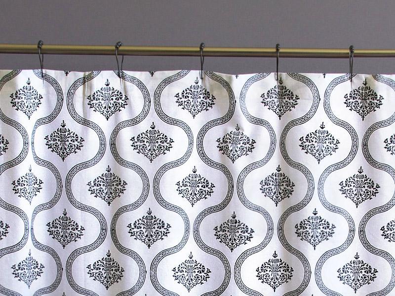Filigree~ Black U0026 White Vintage Hollywood Glamour Shower Curtain