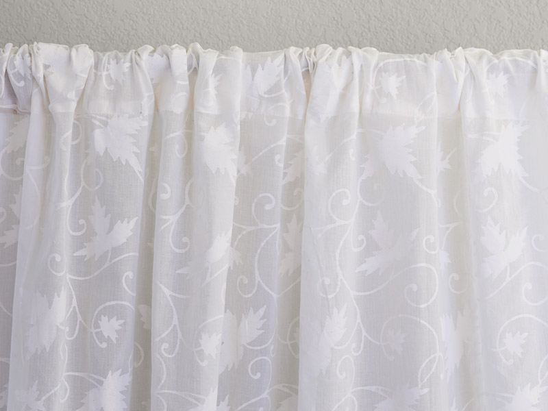 Ivy Lace Country Cottage Sheer White Curtain Panel
