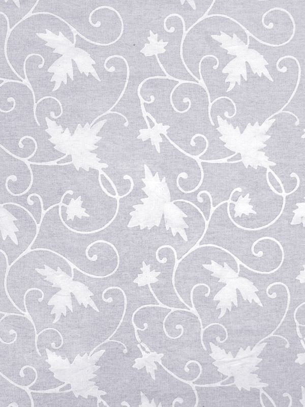 Grey And White Fabric Swatch Ivy Patterned Saffron