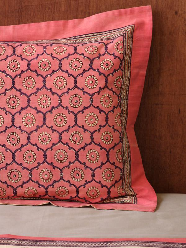 Pink Sham Standard India Pillow Rose Pillow Cover