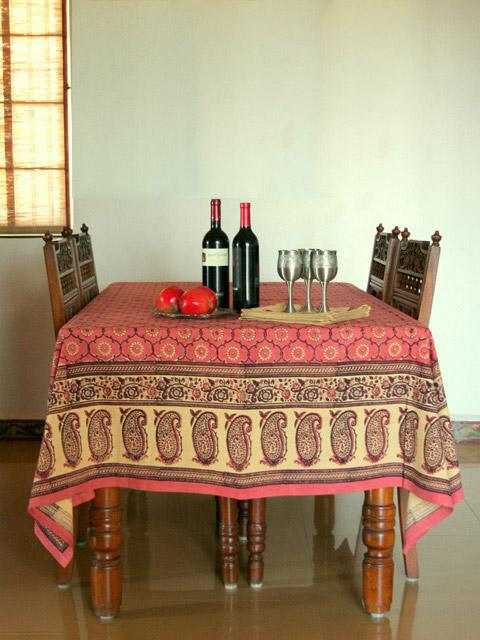 Rose Tablecloth, Pink Tablecloth, Floral Tablecloth, Indian Tablecloth, India  Tablecloth | Saffron Marigold