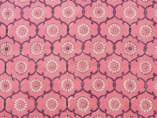 India Rose ~ Banquet Pink Floral Indian Round Tablecloth