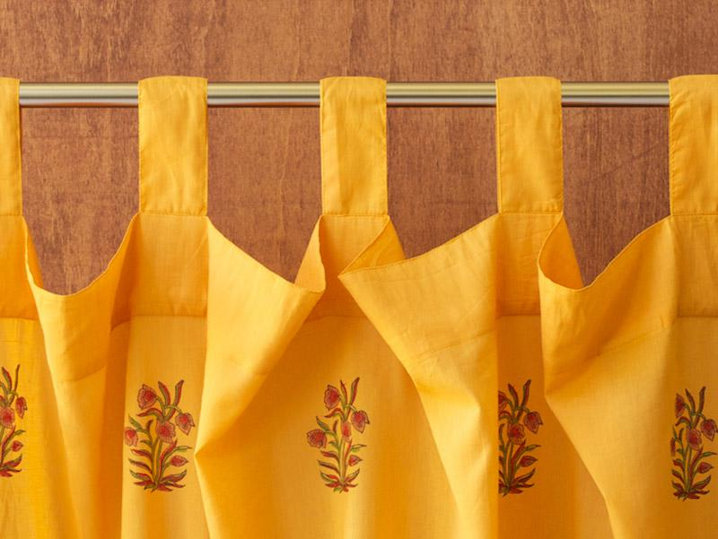 Orange Curtain Panel Paisley Curtain Panel India