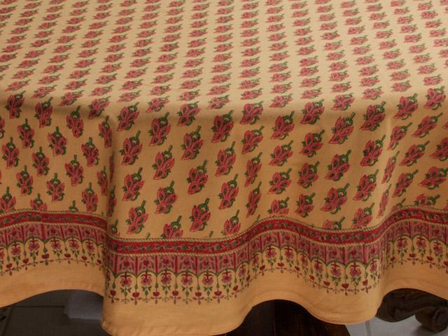 Bon Indian Summer ~ Orange Round India Print Paisley Tablecloths