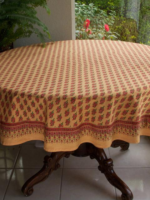 Orange Tablecloth, Paisley Tablecloth, India Tablecloth, 90 Round Tablecloth,  70 Round Tablecloths | Saffron Marigold