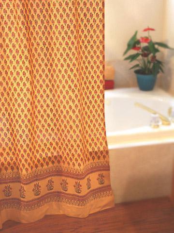 Paisley Shower Curtains, Orange Shower Curtains, Gypsy Shower Curtains,  Indian Shower Curtains | Saffron Marigold
