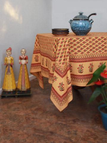 Banquet Tablecloth, Orange Tablecloth, Paisley Tablecloth, India Tablecloth,  Tablecloth Table | Saffron Marigold