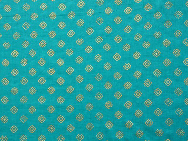 Jeweled Peacock Fabric Swatch