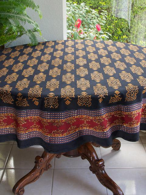 Black Round Tablecloth Designer Party Tablecloth 70 Round