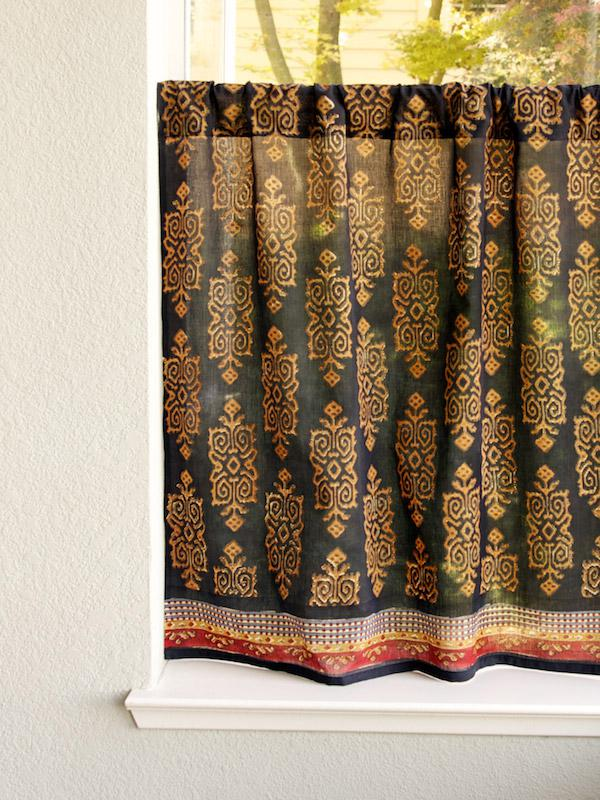 Black Kitchen Curtain Kilim Turkish