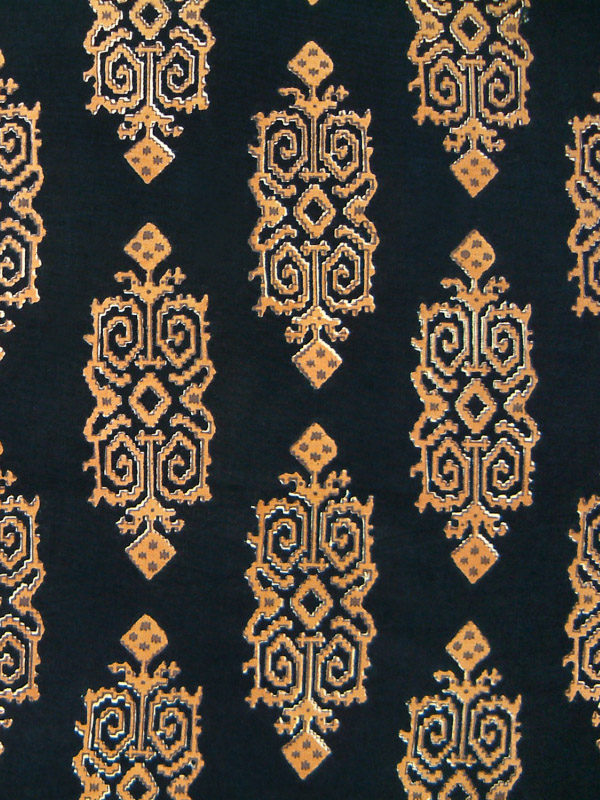 Black and Gold fabric swatch, Kilim | Saffron Marigold