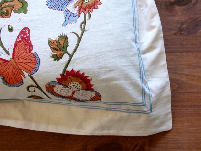 Butterfly Pillow Sham White Summer Pillow Cover