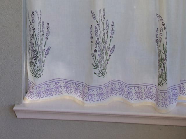 Lavender Print Kitchen Curtain Floral Kitchen Tier