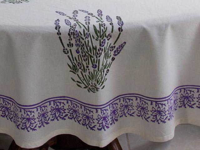 Lavender Dream ~ French Provence Round White Table Cloths