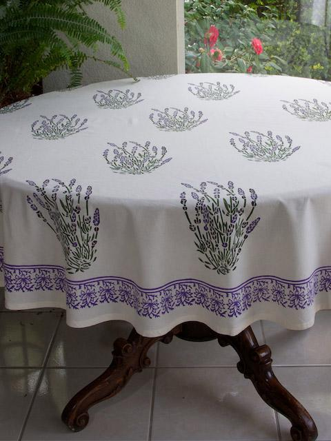 White Tablecloth, French Tablecloth, Provence Tablecloth, 90 And 70 Round Table  Cloths | Saffron Marigold