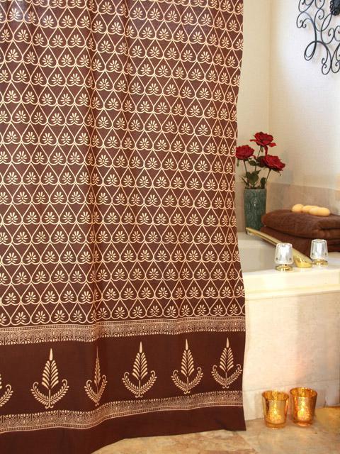 Chocolate Shower Curtain, Dark Brown Shower Curtain, Romantic Shower Curtain  | Saffron Marigold